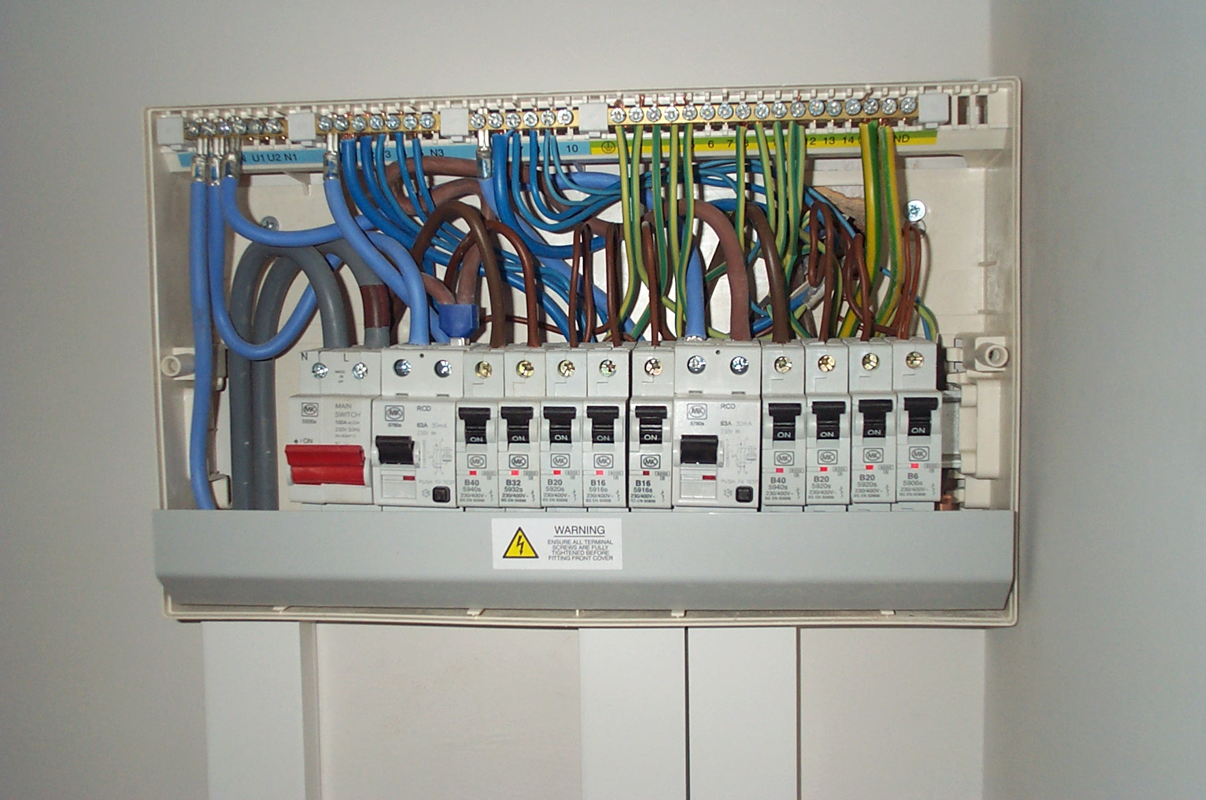 wiring diagram for garage consumer unit wiring diagram data
